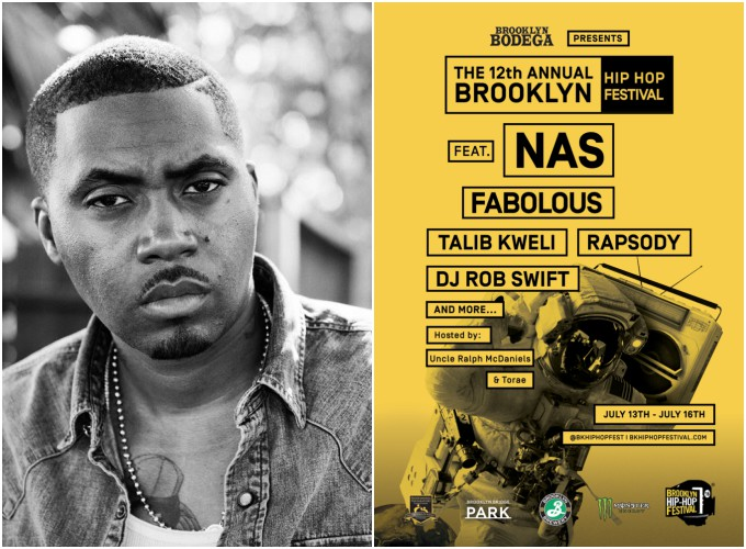 Nas set to headline 2016 Brooklyn Hip-Hop Festival; Fabolous, Talib Kweli and Rapsody to Support