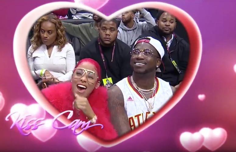 She Said Yes! Gucci Mane Proposes to Girlfriend Keyshia Ka'oir at Atlanta Hawks Game